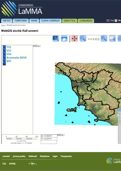WEB-GIS Siccità